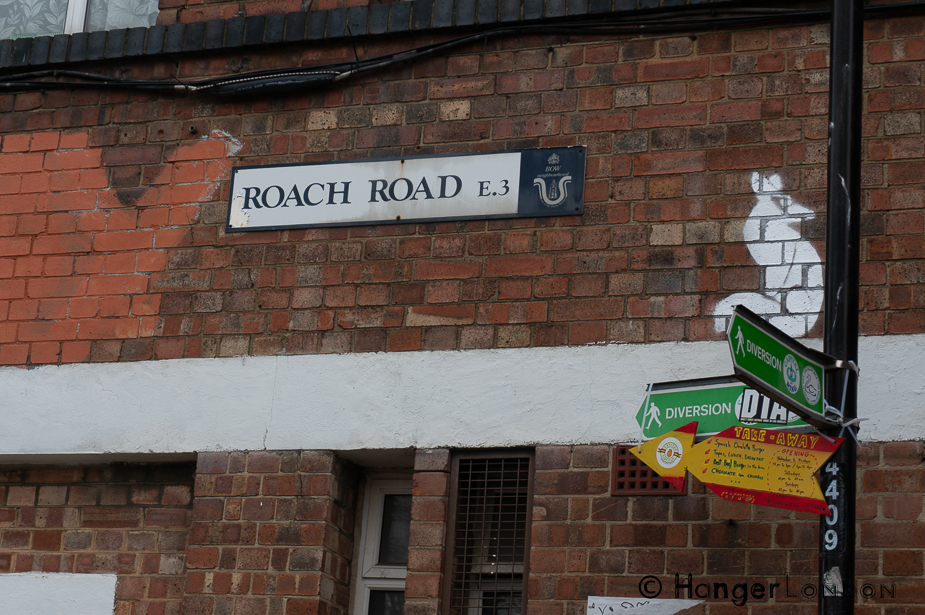 Roach Road sign Fish Island