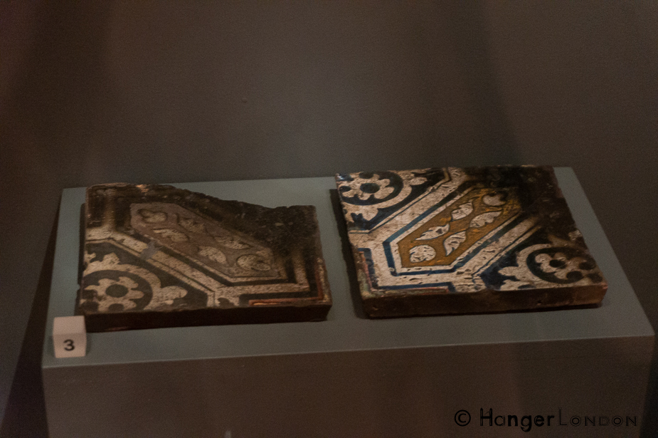 Tiles, that survived The Great Fire of London ,from around Pudding lane 1666 , check out the other artefacts at the Museum of London