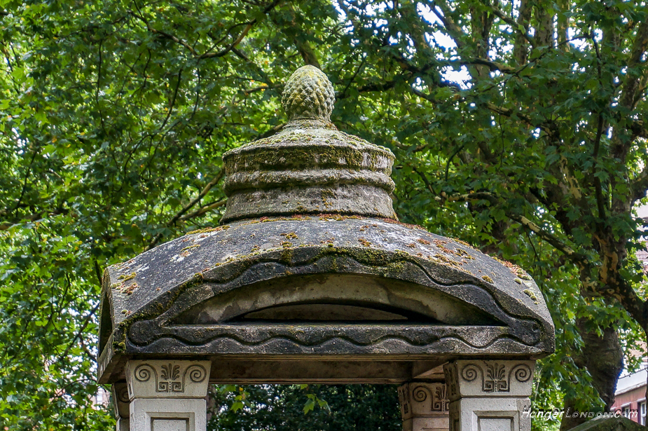 John Soane's Mausoleum that the Red Telephone box roof design was took it's inspiration from.