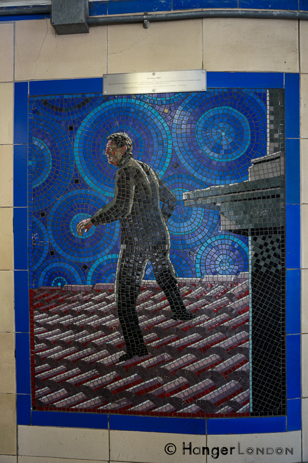 To Catch a Theif, Grace Kelly worked with Hitchcock again in this film, the Mosaic from Leytonstone Station.