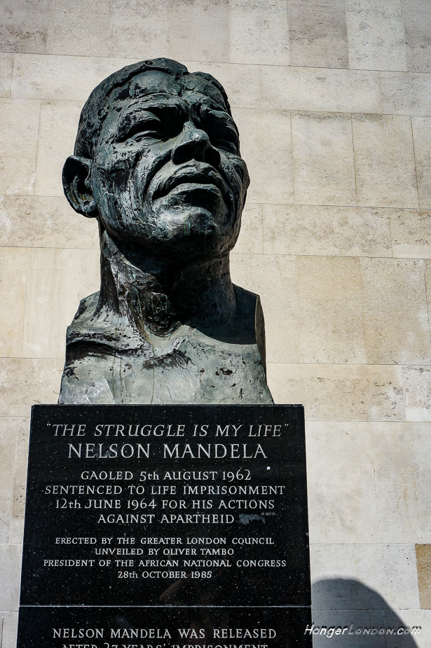Nelson Mandela Bust Southbank London