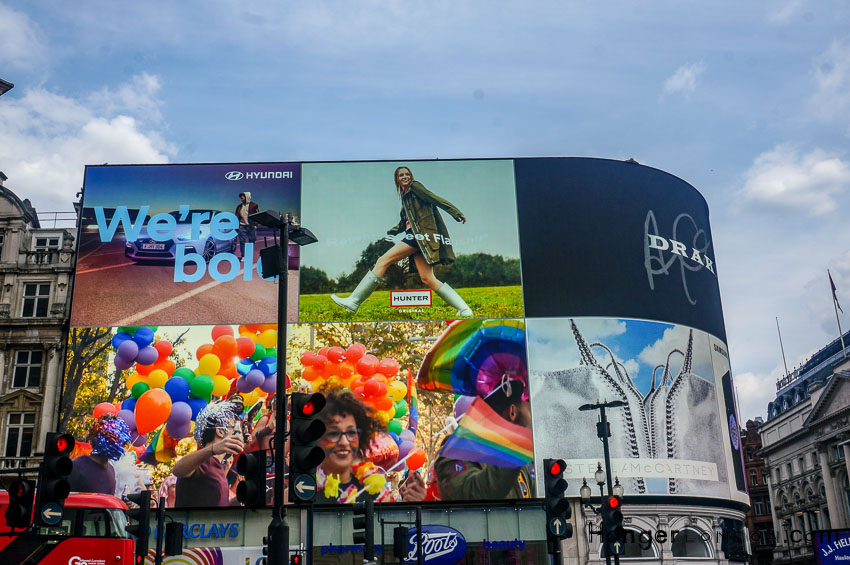 Piccadilly Circus Summer 2018 London Pride images