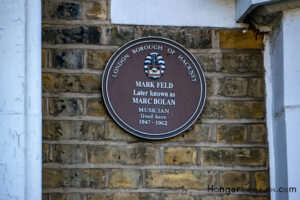 Hackney Council Plaque for Marc Bolan Lived here.
