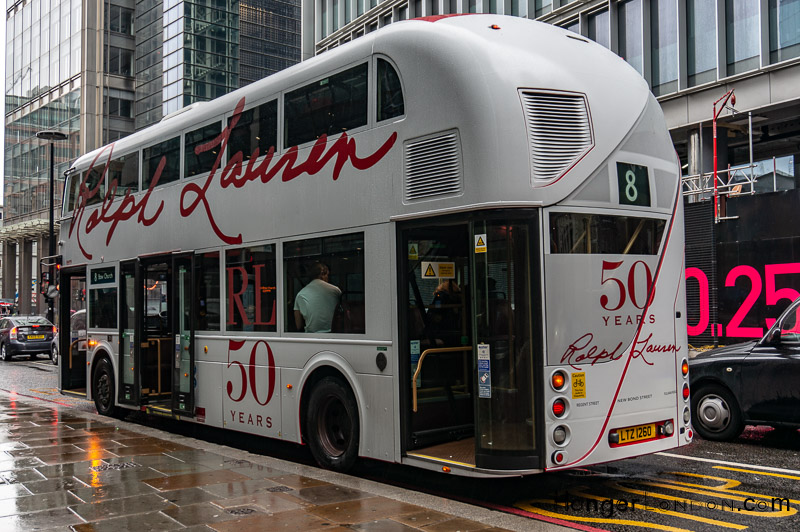 Ralph Lauren 50 yrs Design London Bus 8
