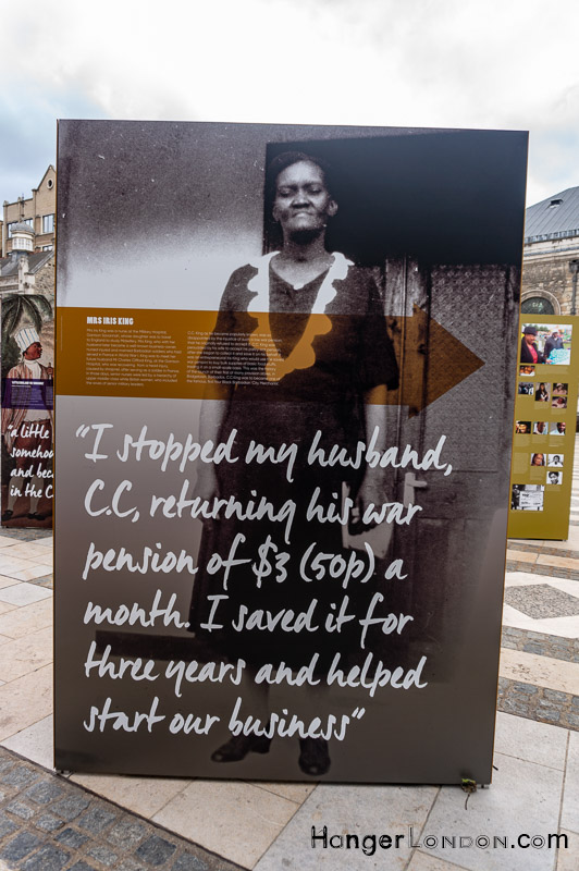 Guildhall Yard outside exhibition Barbadian Nursing revolution