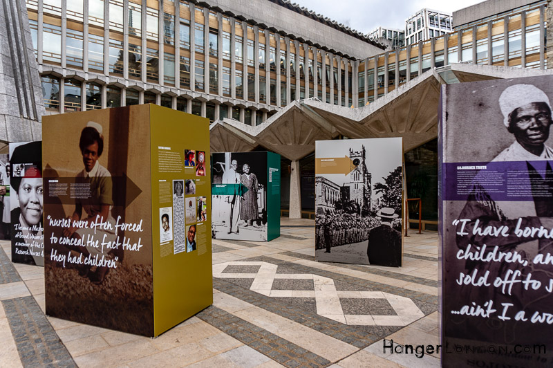 Guildhall Yard outside exhibition