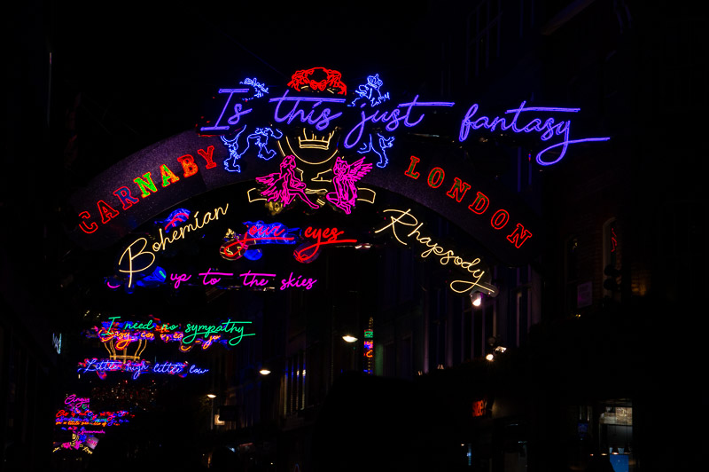 Bohemian Rhapsody Light display Carnaby st