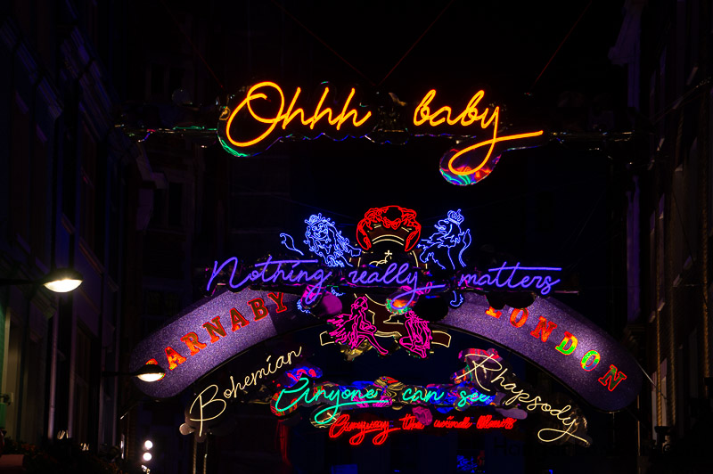 Bohemian Rhapsody Light display Carnaby street