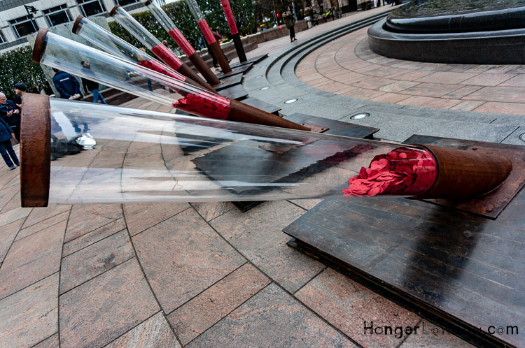 Fallen Soldier around Cabot Square Canary Wharf