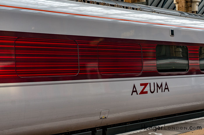 Azuma Hitachi Coach at Kings Cross London