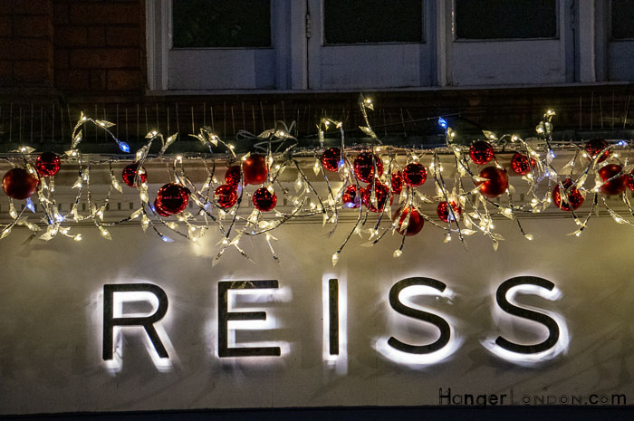Reiss Xmas decorations London
