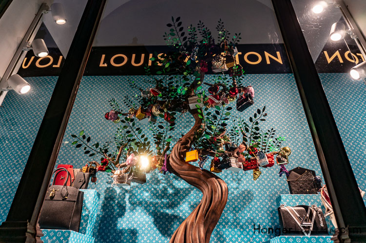 Louis Vuitton Christmas window decoration