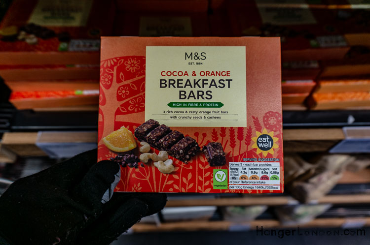 Breakfast Bars Marks and Spencer Cocoa and Orange