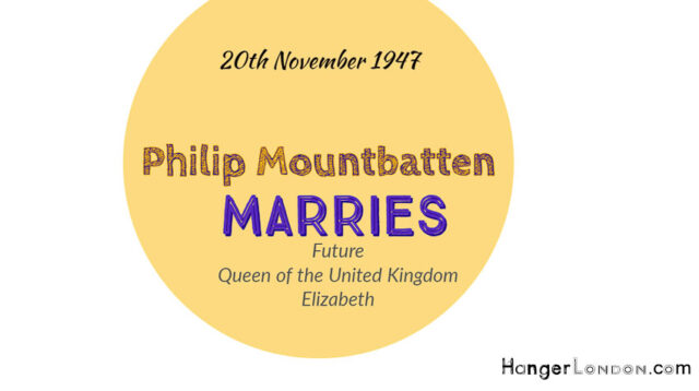 Future Queen Elizabeth Marries Philipe Mountbatten