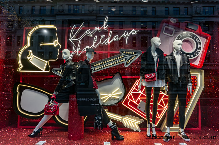 Christmas Shop Window Regents Street Karl Lagerfeld