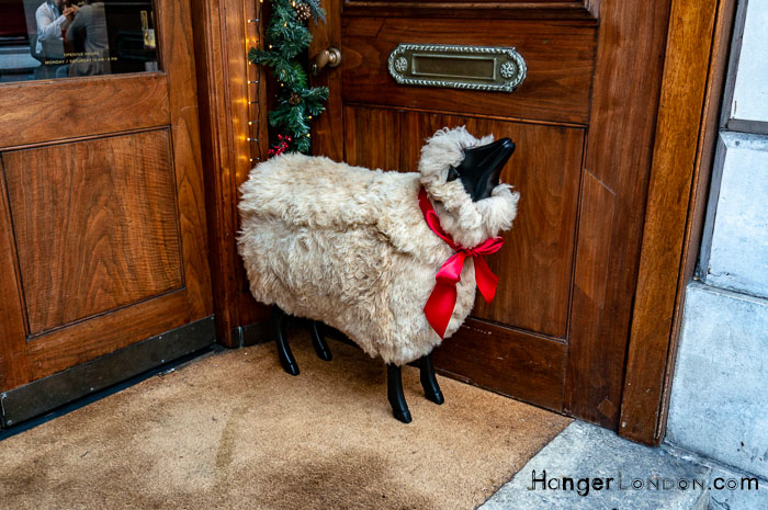 Sheep Christmas door decoration