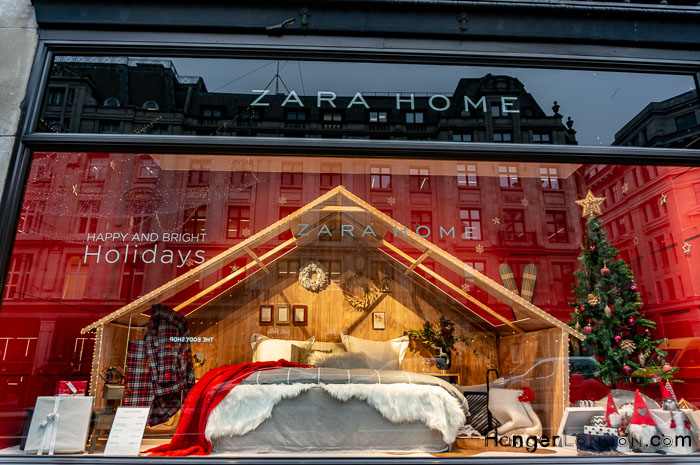 Zara Christmas Shop Window London