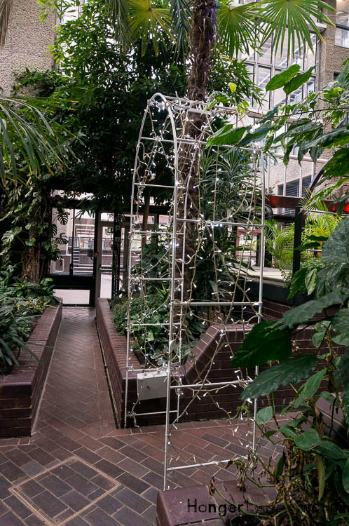 walkways in the conservatory