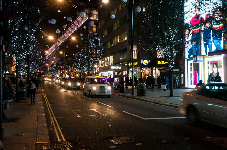 Taxi line up Oxford St Night