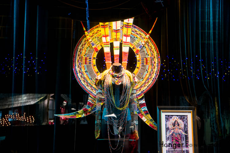 Tribal christmas window Victorias Secret