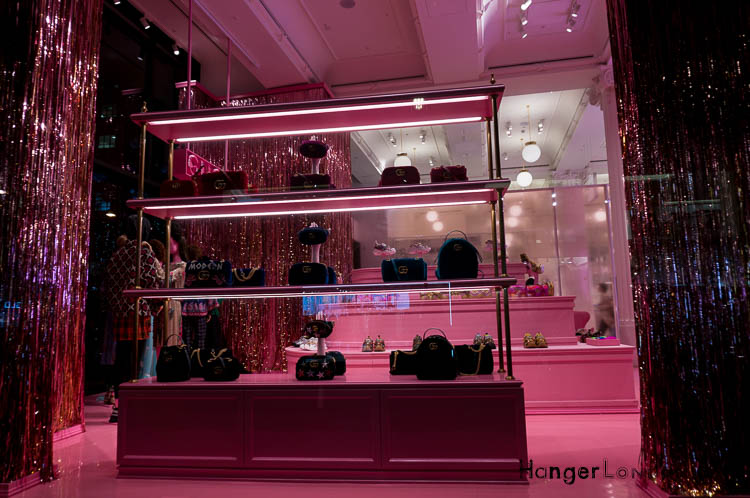 pink Gucci display