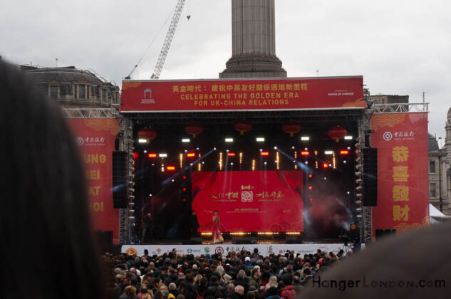 Trafalgar Square new year chinese performing arts