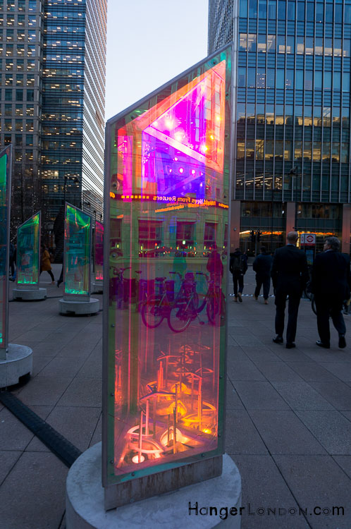 Prisms Outside Canary Wharf Station