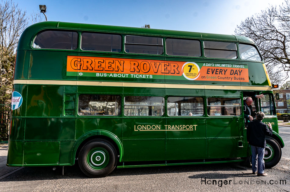 RT green bus side