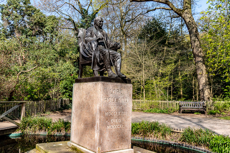 Lord Holland statue in Holland Park by Boehm and watts