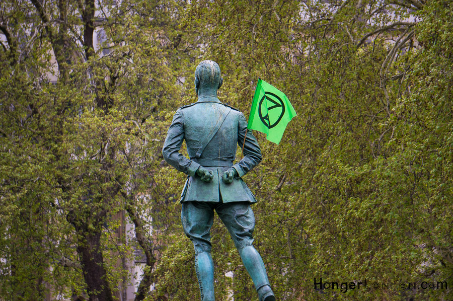 Extinction rebellion green flag