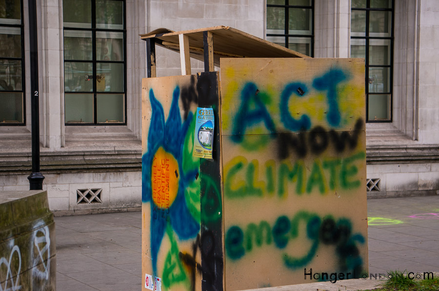 Extinction Rebellion Act on climate change sign