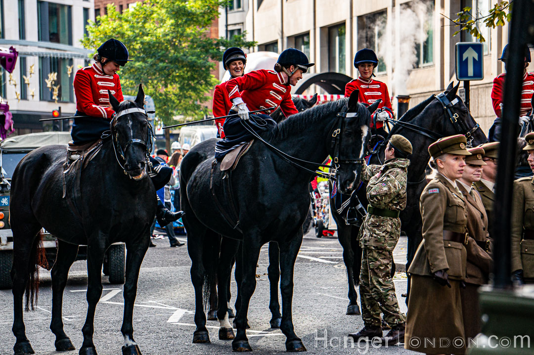 Lord Mayor's Show Getting ready Horse Back
