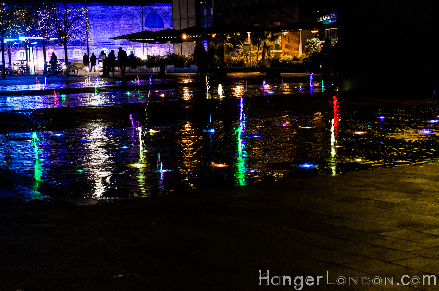 Granary Square water lights 2019