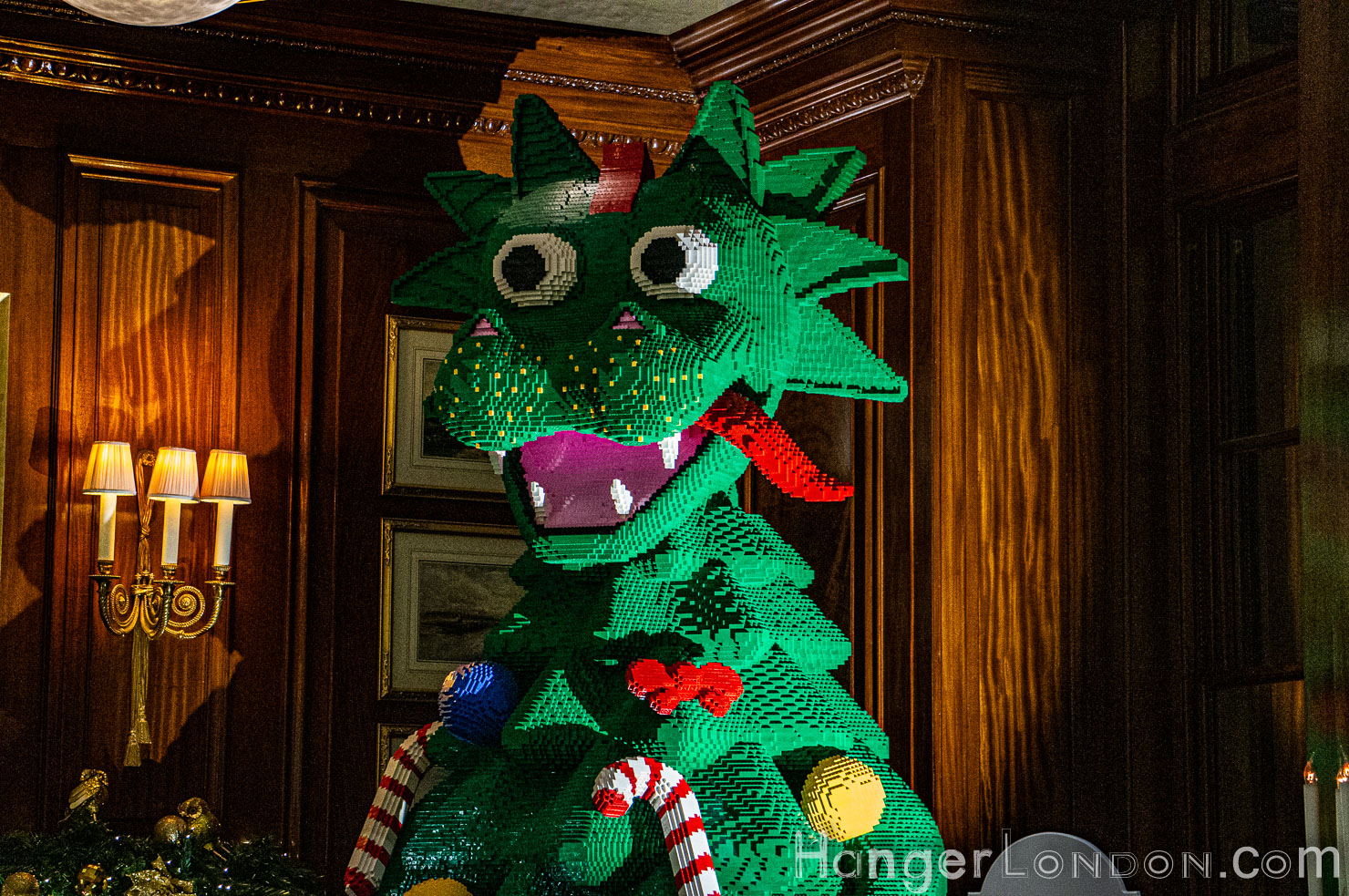 Savoy Lego green dragon christmas tree